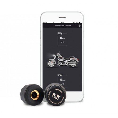 Motorcycle Tyre Pressure Monitoring System for Android/iOS